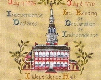 Counted Cross Stitch Pattern, Let Freedom Ring, Patriotic Cross Stitch, Americana, Independence, Cross Point Designs, PATTERN ONLY