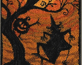 Punch Needle Pattern, Moondance, Halloween, Witch, Fall Decor, Halloween Decor, Teresa Kogut, Punch Needle Embroidery, PATTERN ONLY