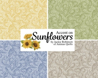 Quilt Fabric, Accent Swirl, Swirl Blender, Quilters Cotton, Accent on Sunflowers, Blender Fabric, Jackie Robinson, Animas Quilts, Benartex