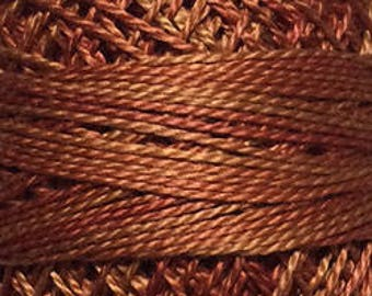 Valdani Thread, Size 8, O506, Perle Cotton, Cinnamon Swirl, Embroidery, Penny Rugs, Punch Needle, Primitive Stitching, Sewing Accessory