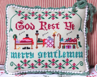 Counted Cross Stitch Pattern, God Rest Ye Merry Gentlemen, Christmas Decor, Christmas Ornament, Ornament, Lindy Stitches, PATTERN ONLY