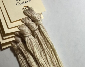 Classic Colorworks, Vanilla Custard, CCT-263, 5 YARD Skein, Hand Dyed Cotton, Embroidery Floss, Counted Cross Stitch, Embroidery Thread