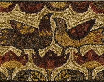 Punch Needle Pattern, Two Birds, Folk Art Decor, Primitive Decor, Rustic Decor, Teresa Kogut, Punch Needle Embroidery, PATTERN ONLY