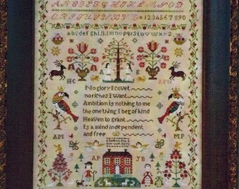 Counted Cross Stitch Pattern, The Snooty Parrots Sampler, Adam and Eve, Tree of Life, Inspirational, Barbara Ana Designs, PATTERN ONLY