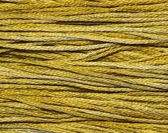 Weeks Dye Works, Gold, WDW-2221, 5 YARD Skein, Hand Dyed Cotton, Embroidery Floss, Cross Stitch, Hand Embroidery, Punch Needle