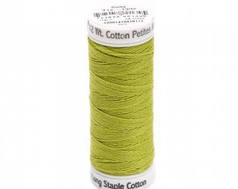 Sulky, 712-1332, Chartreuse, Sulky Petites, 12 wt Cotton, Cotton Thread, Egyptian Cotton Thread, Embroidery Thread, Cross Stitch, Decorative