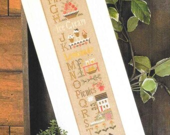 Counted Cross Stitch Pattern, Summer ABC's, Cross Stitch Sampler, Summer Decor, Summer Sampler, Little House Needleworks, PATTERN ONLY