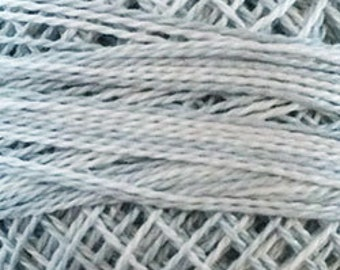 Valdani Thread, Size 8, O117, Dove Tail Grey Valdani Perle Cotton, Punch Needle, Embroidery, Penny Rugs, Wool Applique, Sewing Accessory