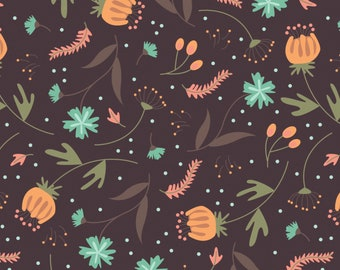 Quilt Fabric, In The Woods, Forest Floor, Brown, 100% Cotton, Quilter Cotton, Cotton Fabric, Premium Cotton, Alisse Courter, Camelot Fabrics