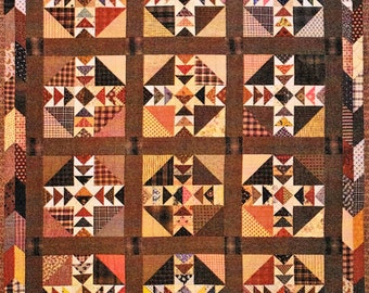 Quilt Pattern, Gathered in Time, Pieced and Appliqued Quilt, Timeless Traditions, Flying Geese, Heirloom Quality Quilt Pattern, PATTERN ONLY