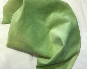 Velveteen, Bells of Ireland, Green Velveteen, Hand Dyed Velveteen, Cotton Velveteen, Finishing Fabric, Velveteen Fabric, Lady Dot Creates