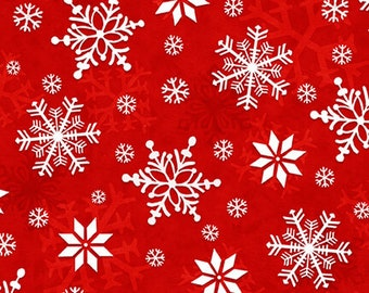 Flannel Fabric, Winter Whimsy, Snowflakes, White Snowflakes, Winter Flannel, Cotton Flannel, Quilting Flannel, Shelly Comiskey, Henry Glass