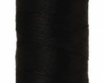 Mettler Thread, Black, #4000, 60wt, Solid Cotton, Silk Finish Cotton, Embroidery Thread, Sewing Thread, Quilting Thread, Sewing Thread