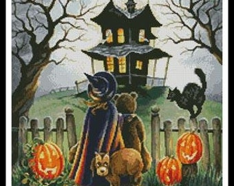 Counted Cross Stitch Pattern, Maybe Not, Autumn Decor, Halloween Decor, Costumes, Black Cat, Witch, Artecy Cross Stitch, PATTERN ONLY