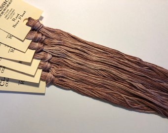 Classic Colorworks, Root Beer Float, CCT-027, 5 YARD Skein, Hand Dyed Cotton, Embroidery Floss, Counted Cross Stitch, Embroidery Thread