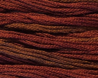 Classic Colorworks, Cayenne, CCT-193, 5 YARD Skein, Hand Dyed Cotton, Embroidery Floss, Counted Cross Stitch, Embroidery Thread