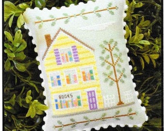 Counted Cross Stitch, Main Street Bookstore, Cottage Decor, Main Street Series #2, Country Cottage Needleworks, PATTERN ONLY
