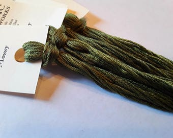 Classic Colorworks, Mossy, CCT-229, 5 YARD Skein, Hand Dyed Cotton, Embroidery Floss, Counted Cross Stitch, Hand Embroidery Thread