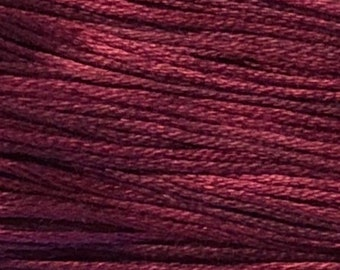 Weeks Dye Works, Bordeaux, WDW-1339, 5 YARD Skein, Hand Dyed Cotton, Embroidery Floss, Cross Stitch, Hand Embroidery, Punch Needle