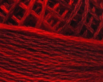 Valdani 3 Strand, M43, Vibrant Reds, Cotton Floss, Cross Stitch, Punch Needle, Embroidery, Penny Rugs, Wool Applique, Tatting