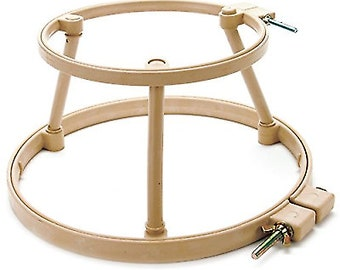 "No Slip Lap Stand, 10""/12"" Combo, Morgan No Slip Hoop,  Cross Stitch Hoop, Quilting Hoop, Interlocking, Punch Needle Hoop, Rug Hooking Hoop"