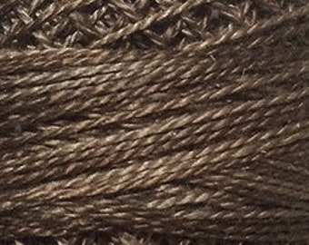 Valdani Thread, Size 8, O196, Valdani Perle Cotton, Muddy Bark, Punch Needle, Embroidery, Penny Rugs, Primitive Stitching, Sewing Accessory