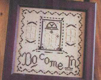 Counted Cross Stitch Pattern, Do Come In, Welcome Sampler, Sampler, Welcome, Come In, At Home, October House Fiber Arts, PATTERN ONLY