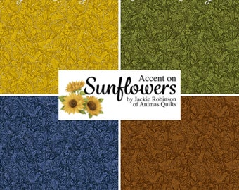 Quilt Fabric, Accent Butterflies, Butterfly, Quilters Cotton, Accent on Sunflowers, Blender Fabric, Jackie Robinson, Animas Quilts, Benartex