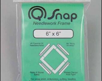 "Q-Snap Frame, 6"" x 6"" Stitching Frame, Cross Stitch Frame, Q-Snaps Frame, Embroidery Frame, Needlework Frame, Q-Snaps Hoop, Hardanger"