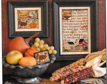 Counted Cross Stitch Pattern, Thanksgiving Comes Again, Fall Decor, Autumn, Thanksgiving Cross Stitch, The Prairie Schooler, PATTERN ONLY