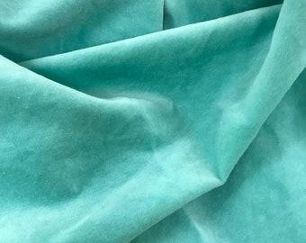 Velveteen, Sea Glass, Green Velveteen, Hand Dyed Velveteen, Cotton Velveteen, Finishing Fabric, Velveteen Fabric, Lady Dot Creates
