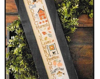 Counted Cross Stitch Pattern, Autumn ABC's, Cross Stitch Sampler, Autumn Decor, Fall Sampler, Little House Needleworks, PATTERN ONLY