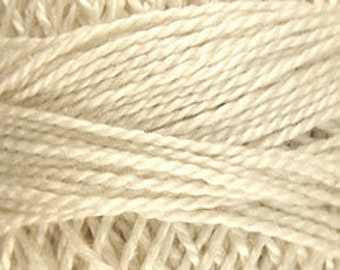 Valdani Thread, Size 8, 004, Ivory, Valdani Perle Cotton, Embroidery Thread, Punch Needle, Embroidery, Penny Rugs, Wool Applique, Tatting