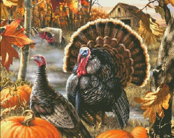 Counted Cross Stitch Pattern, Gobbler Farms, Country Farm, Barnyard Turkey, Turkeys, Dona Gelsinger, Heaven and Earth Designs, PATTERN ONLY