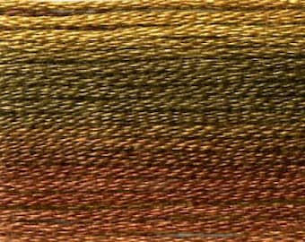 Cosmo, 6 Strand Cotton Floss, SE80-8037,  Seasons Variegated Embroidery Thread, Browns, Wool Applique, Cross Stitch, Embroidery, Needlepoint