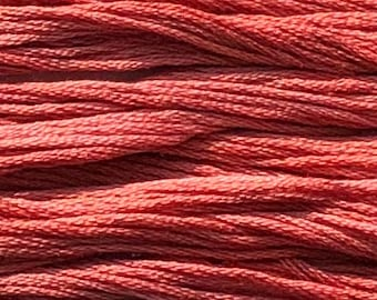Classic Colorworks, Tennessee Red Clay, CCT-131, 5 YARD Skein, Hand Dyed Cotton, Embroidery Floss, Counted Cross Stitch, Embroidery Thread
