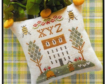 Counted Cross Stitch Pattern, ABC Sampler, #9, Cross Stitch Sampler, Little House Needlework, Cross Stitch Pillow, Ornament, Pattern ONLY