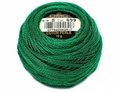DMC Perle Cotton, Size 8, DMC 699, Pearl Cotton, Christmas Green, Embroidery Thread, Embroidery Thread, Punch Needle, Penny Rugs, Applique
