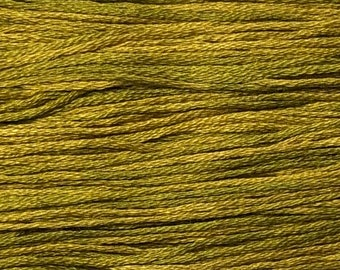 Weeks Dye Works, Olive, WDW-2211, 5 YARD Skein, Cotton Floss, Embroidery Floss, Counted Cross Stitch, Hand Embroidery, PunchNeedle