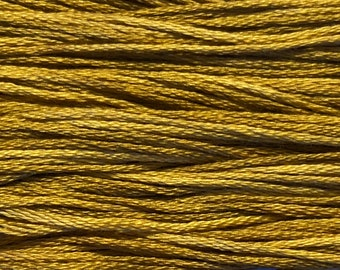 Weeks Dye Works, Whiskey, WDW-2219, 5 YARD Skein, Hand Dyed Cotton, Embroidery Floss, Counted Cross Stitch, Embroidery, PunchNeedle
