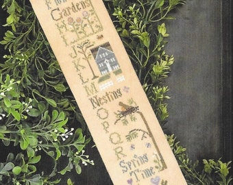 Counted Cross Stitch Pattern, Spring ABC's, Cross Stitch Sampler, Spring Decor, Spring Sampler, Little House Needleworks, PATTERN ONLY