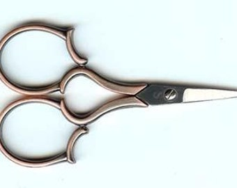 Embroidery Scissors, Copper Leaf, Heirloom, Embroidery, Sewing Accessory, Sewing Scissors, Sewing Accessories, Needlepoint