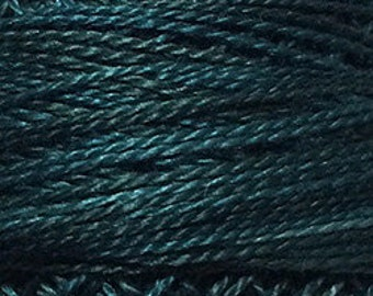 Valdani Thread, Size 12, H203, Perle Cotton, Blackened Teal, Embroidery Thread, Punch Needle, Embroidery, Penny Rugs, Sewing Accessory