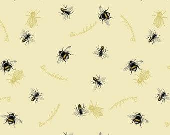 Quilt Fabric, Follow the Sun, Bumblebees, 100% Cotton, Quilters Cotton, Home Dec, Premium Cotton, Insects, Pre-Cut Fabric, David Textiles