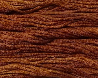 Gentle Art, Simply Shaker Threads, Pumpkin Pie, #7059, 10 YARD Skein, Embroidery Floss, Counted Cross Stitch, Hand Embroidery Thread