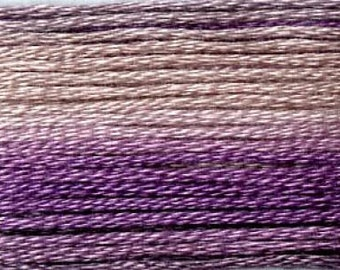 Cosmo, 6 Strand Cotton Floss, SE80-8063,  Seasons Variegated Embroidery Thread, Purples, Punch Needle, Embroidery, Sewing Accessory