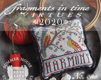 Counted Cross Stitch, Fragments in Time 2020, No 1 Harmony, Cross Stitch Pattern, Virtues Series, Summer House Stitches Workes, PATTERN ONLY