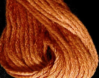 Valdani, 6 Strand Cotton Floss, 862, Faded Rust Medium, Embroidery Floss, Variegated Floss, Hand Dyed Floss, Wool Applique, Punch Needle