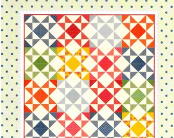 Quilt Pattern, Jelly Jar Quilt Pattern, Whimsical Quilt, Lap Quilt, Wall Quilt, Cottage Decor, American Jane Patterns, PATTERN ONLY