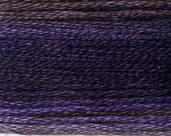 Cosmo, 6 Strand Cotton Floss, SE80-8069,  Seasons Variegated Embroidery Thread, Dark Purples. Punch Needle, Embroidery, Sewing Accessory
